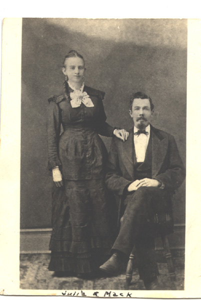 Julia and Mack Alexander's wedding portrait 1875