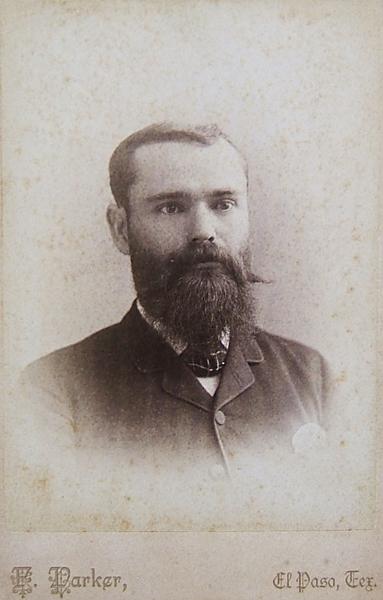 1885 photo of Sheridan Cavitt