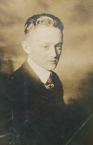 1917 portrait of Ocea Earl Blankenbaker