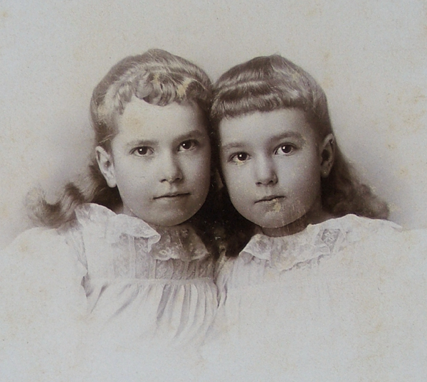two Cavitt girls in about 1864