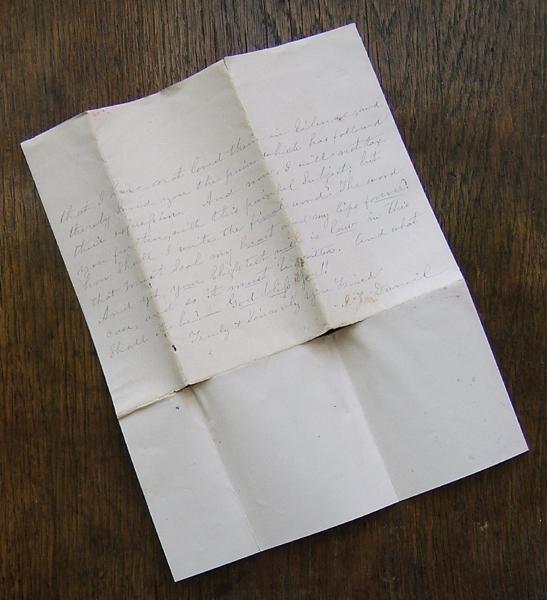 Dec 3, 1886 letter to Tillie Cavitt from T. J. Daniel