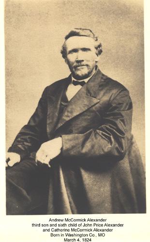 Andrew McCormick Alexander in 1870's