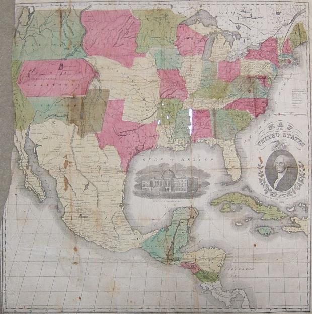 1854 U. S. map