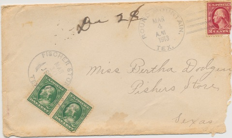 Envelope from Frank Alexander Envelope from Frank Alexander to Bertha March 4, 1913